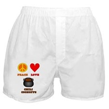 Peace Love Chili Cookoffs Boxer Shorts