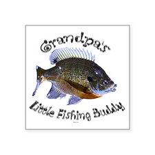 "Grandpas fishing buddy Square Sticker 3"" x 3"""