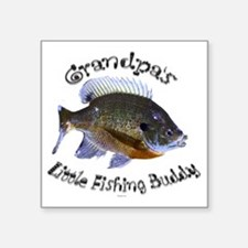 "Grandpas fishing buddy Square Sticker 3"" x 3"""