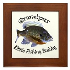Grandpas fishing buddy Framed Tile