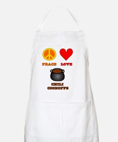 Peace Love Chili Cookoffs Apron