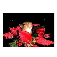 Christmas Night Squirrel Postcards (Package of 8)