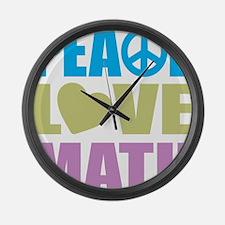peacelovemath Large Wall Clock