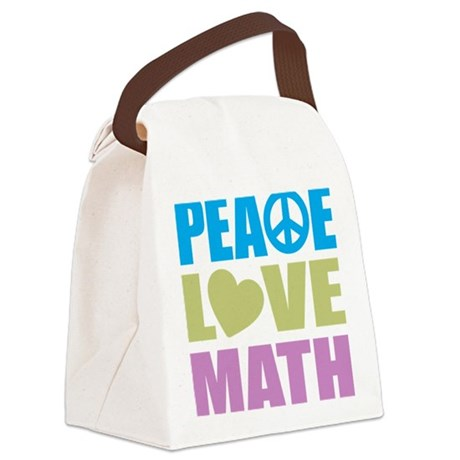 peacelovemath Canvas Lunch Bag