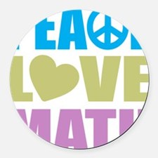 peacelovemath Round Car Magnet