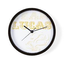 teamluckablk Wall Clock