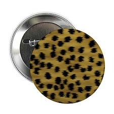 """Faux Cheetah Print Pattern. 2.25"""" Button"""