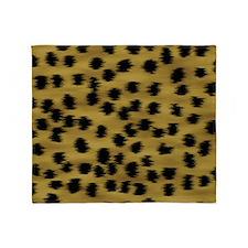 Faux Cheetah Print Pattern. Throw Blanket
