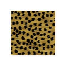 """Faux Cheetah Print Pattern. Square Sticker 3"""" x 3"""""""