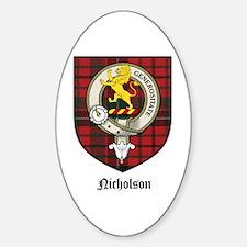 Nicholson Clan Crest Tartan Oval Decal