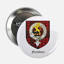 """Nicholson Clan Crest Tartan 2.25"""" Button (10 pack)"""