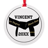 Black belt Round Ornament