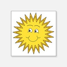 """Summer sun with a Smile. Square Sticker 3"""" x 3"""""""