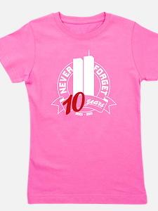 10yrs-NeverForget-1 Girl's Tee
