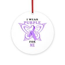 I Wear Purple for Me Round Ornament