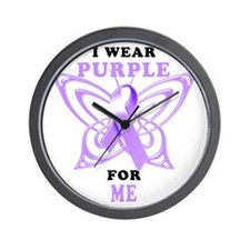 I Wear Purple for Me Wall Clock