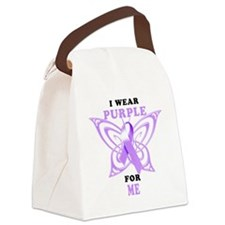 I Wear Purple for Me Canvas Lunch Bag