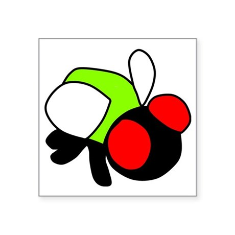 "fly Square Sticker 3"" x 3"""
