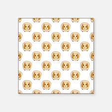 """Guinea Pig Pattern Square Sticker 3"""" x 3"""""""