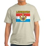 Luxembourg Flag Ash Grey T-Shirt