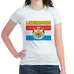 Luxembourg Flag Jr. Ringer T-Shirt