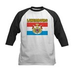 Luxembourg Flag Kids Baseball Jersey
