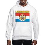 Luxembourg Flag Hooded Sweatshirt