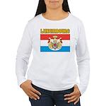 Luxembourg Flag Women's Long Sleeve T-Shirt