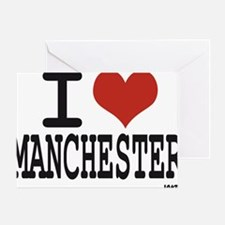 I love Manchester Greeting Card