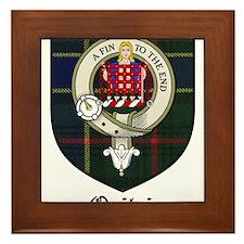 Ogilvie Clan Crest Tartan Framed Tile