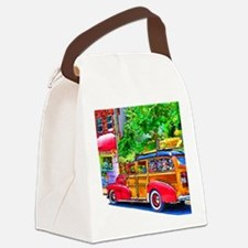 Woody Art Canvas Lunch Bag