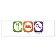 Eat Sleep Inspector Bumper Bumper Sticker
