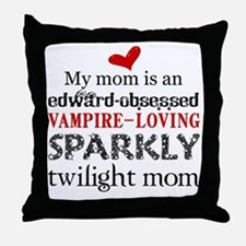 Sparkly Baby Mom2 Throw Pillow