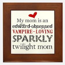 Sparkly Baby Mom2 Framed Tile
