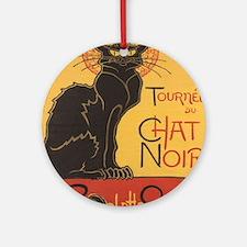 chatnoirposter Round Ornament