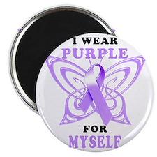 I Wear Purple for Myself Magnet