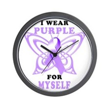 I Wear Purple for Myself Wall Clock
