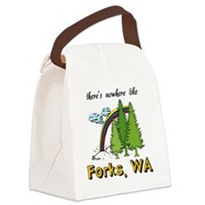Forks Nowhere B Canvas Lunch Bag
