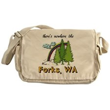 Forks Nowhere B Messenger Bag