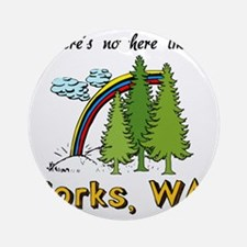 Forks Nowhere B Round Ornament