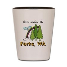 Forks Nowhere B Shot Glass