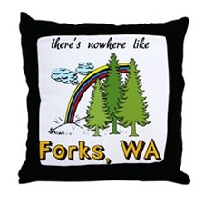 Forks Nowhere B Throw Pillow