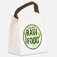 RAWFOODBUTTON2 Canvas Lunch Bag