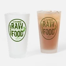 RAWFOODBUTTON2 Drinking Glass
