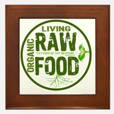 RAWFOODBUTTON2 Framed Tile