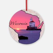Wisconsin Round Ornament