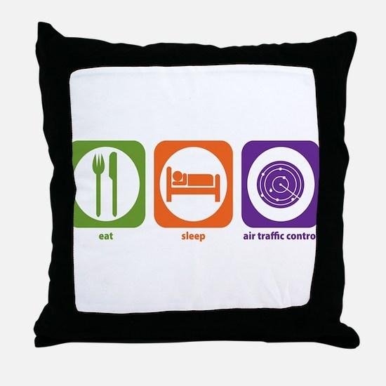 Eat Sleep Air Traffic Throw Pillow