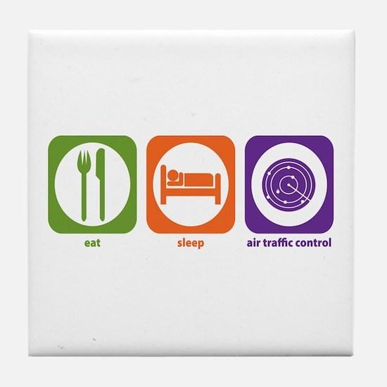 Eat Sleep Air Traffic Tile Coaster