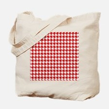 Houndstooth Red FF Tote Bag