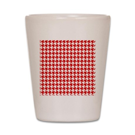 Houndstooth Red FF Shot Glass